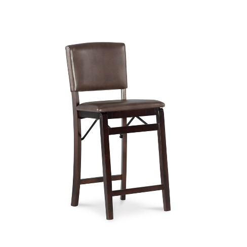 Cool Monaco Folding Counter Stool Brown Linon Machost Co Dining Chair Design Ideas Machostcouk