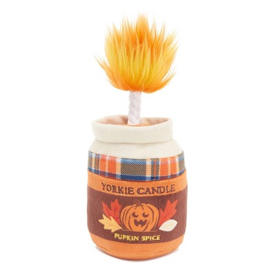 BARK Pumpkin Candle Dog Toy - Yorkie Candle