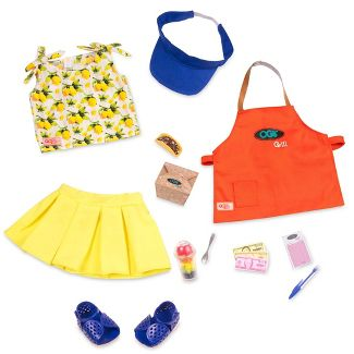 "Our Generation Deluxe Food Truck Outfit for 18"" Dolls - Dressed to Grill"