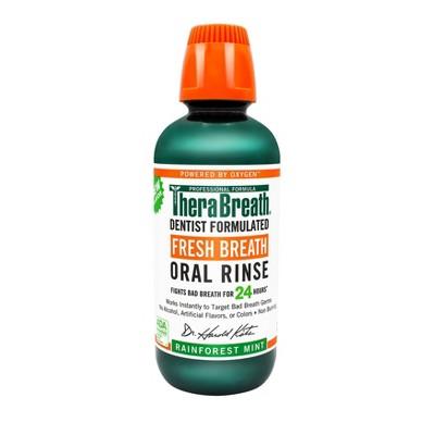 TheraBreath Fresh Breath Oral Rinse Rainforest Mint - 16 fl oz