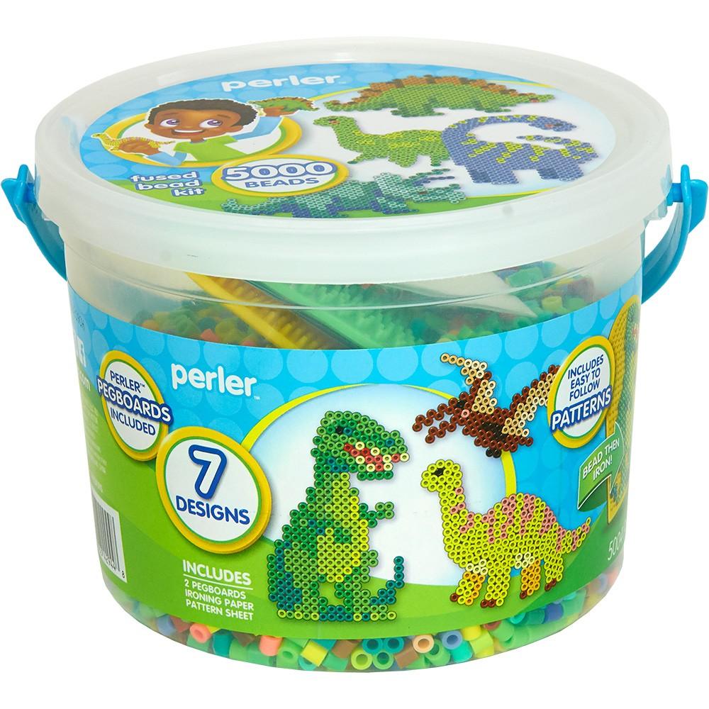 Image of Perler Dinosaurs 5500pc Beads Activity Bucket