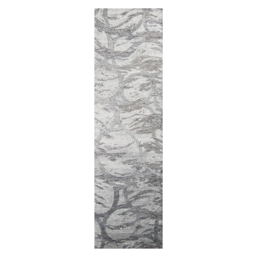 2'3X8' Shapes Tufted Runner Silver - Momeni