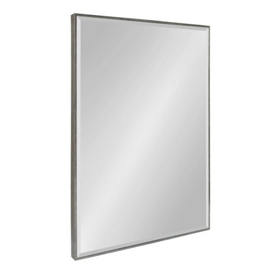 "25"" x 37"" Rhodes Framed Wall Mirror Dark Silver - Kate and Laurel"