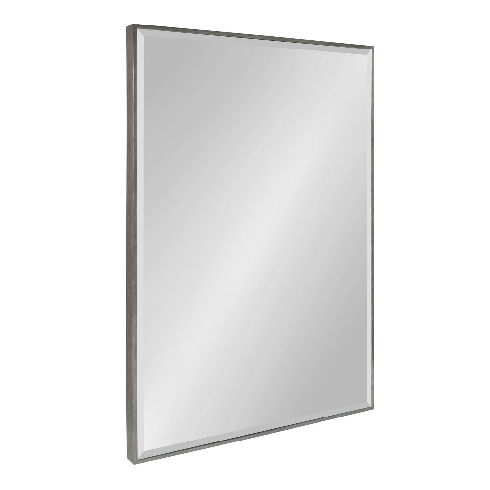 "Image of ""24.75""""x36.75"""" Rhodes Framed Wall Mirror Dark Silver - Kate and Laurel"""