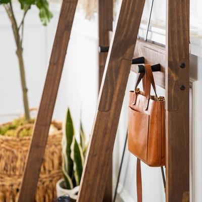 "68"" Humphrey Solid Wood X Back Angled Hall Tree - Saracina Home : Target"