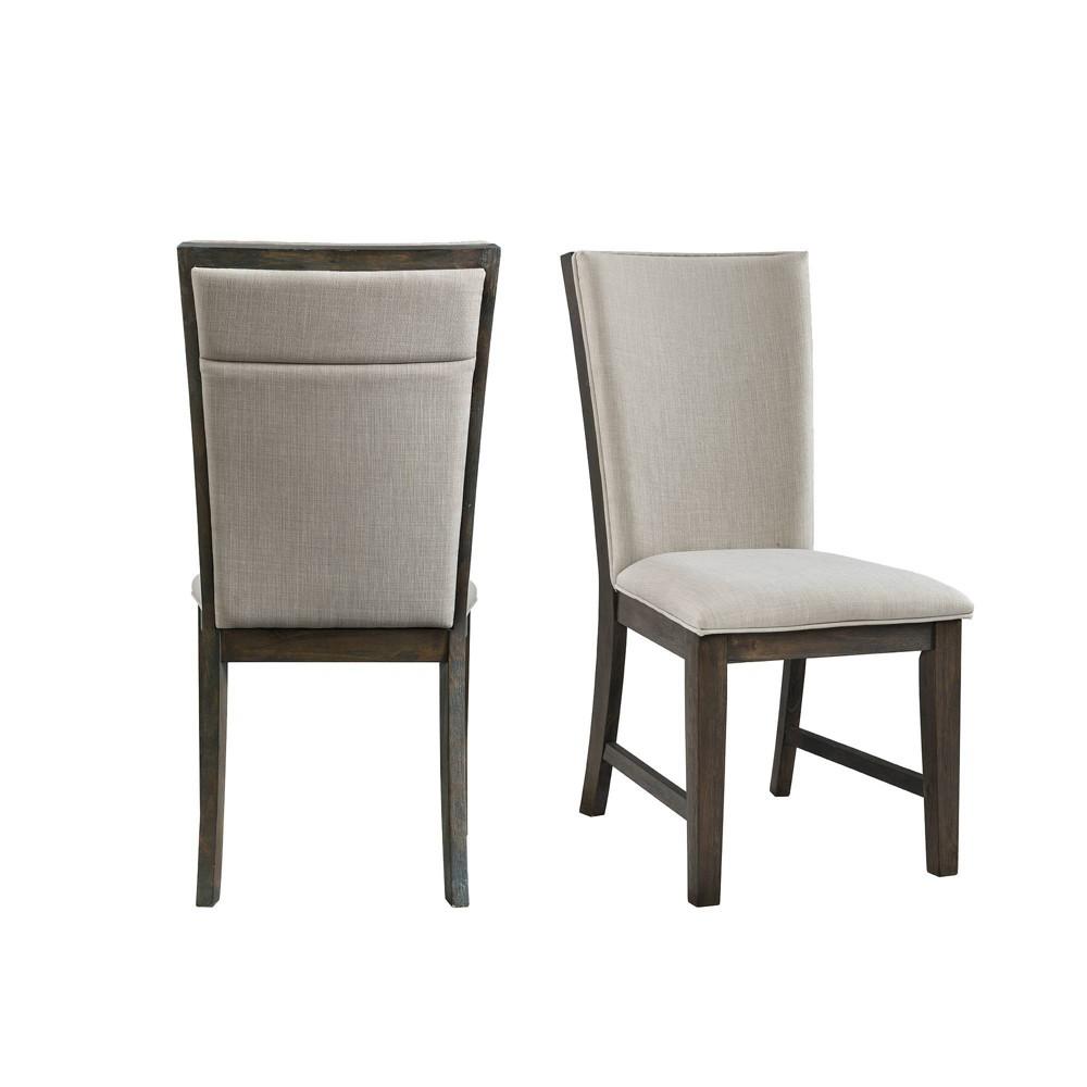 Remarkable Jasper Upholstered Side Chair Set Toasted Walnut Picket Andrewgaddart Wooden Chair Designs For Living Room Andrewgaddartcom