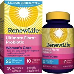 Renew Life Ultimate Flora Probiotic Womens Care Vegetarian Capsules