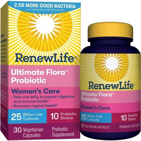 Renew Life Ultimate Flora Women's Care Probiotic Vegetarian Capsules - 30ct - image 1 of 7