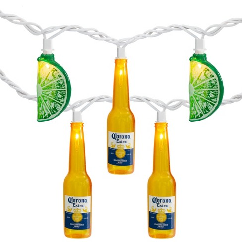 Northlight 10-Count Corona Extra Beer Bottle and Lime Summer Patio Lights - 9ft White Wire - image 1 of 4
