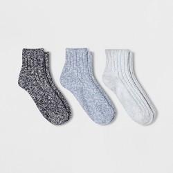 Women's 3pk Slub Ankle Socks - Universal Thread™ One Size