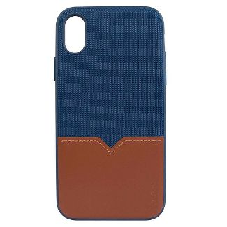 Evutec Apple iPhone XR Northill Case (with Car Vent Mount) - Blue/Saddle