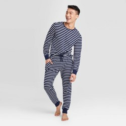 Men's Striped Pajama Set - Navy