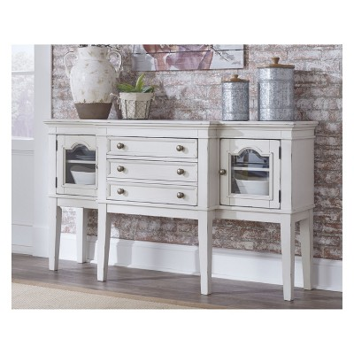 Danbeck Dining Room Server Chipped White   Signature Design By Ashley :  Target