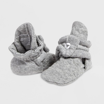 Burt's Bees Baby® Quilted Bee Organic Cotton Booties - Gray 3-6M