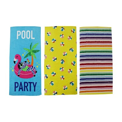 "3ct Kids' Pool Party 58""x28"" Beach Towels - Bullseye's Playground™"