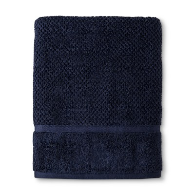 Bath Towel Performance Texture Bath Towels And Washcloths Xavier Navy - Threshold™