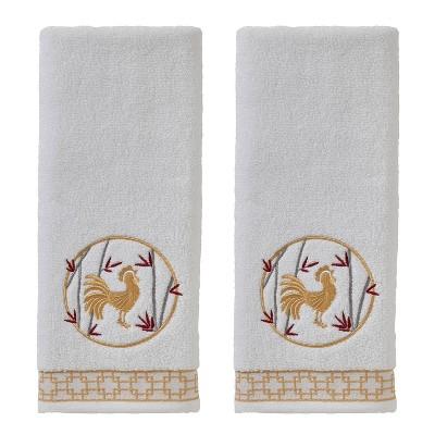 2pc Vern Yip Zodiac Hand Towel Set White - SKL Home