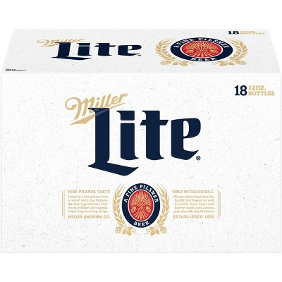 Miller Lite Beer - 18pk/12 fl oz Bottles