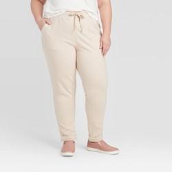 Women's Plus Size Straight Leg Ankle Length Leisure Pants - Ava & Viv™