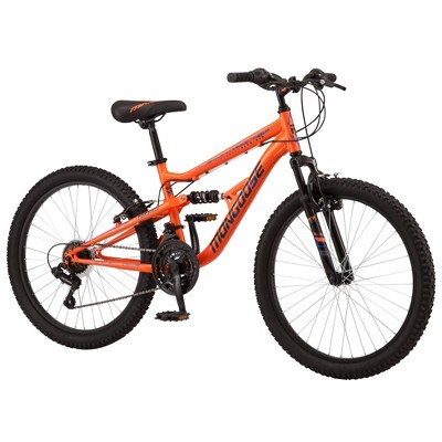 "Mongoose Standoff 24"" Kids' Mountain Bike - Orange"