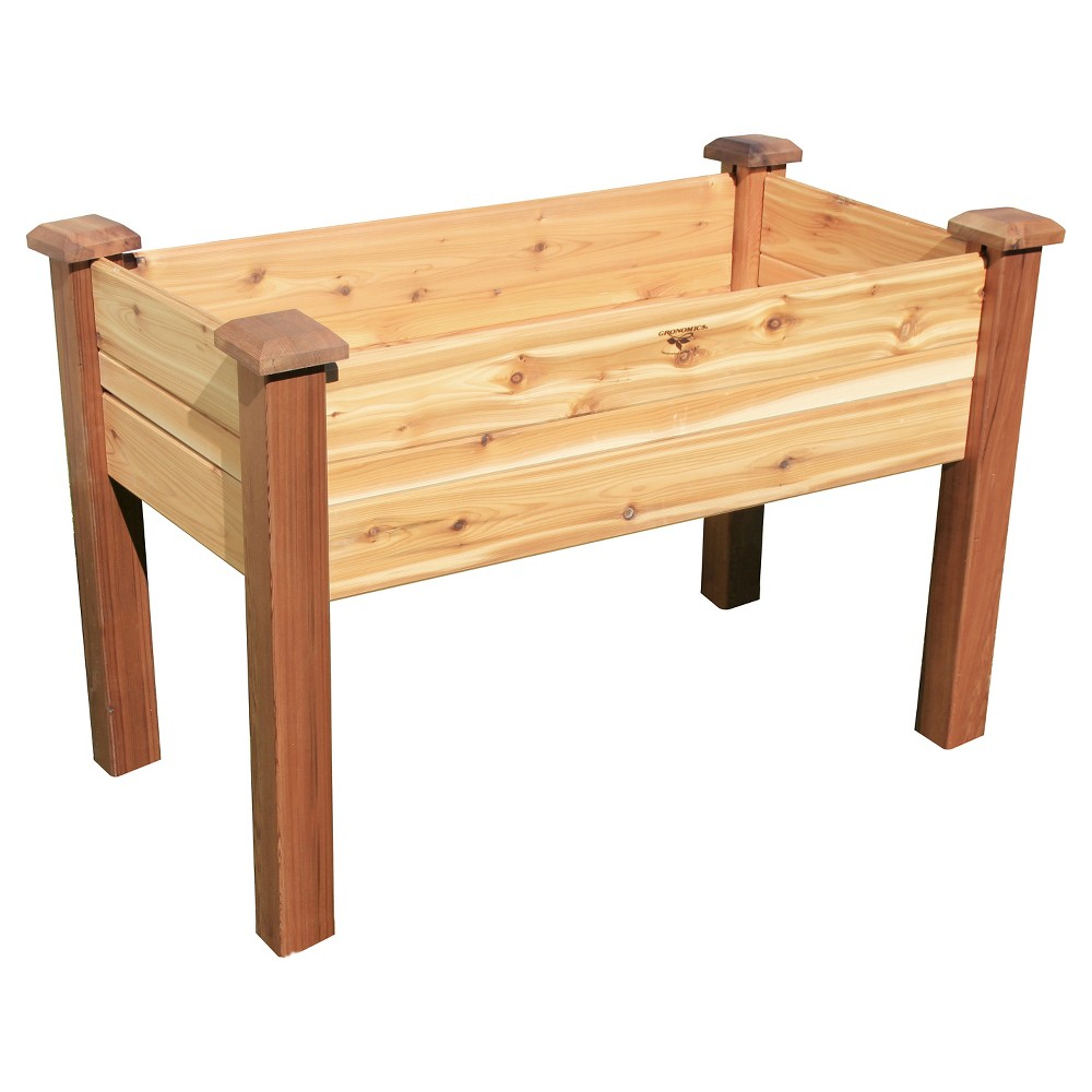 "Image of ""51.5 x 27.5"""" x 33.5"""" Elevated Rectangular Garden Bed - Western Red Cedar - Gronomics"""