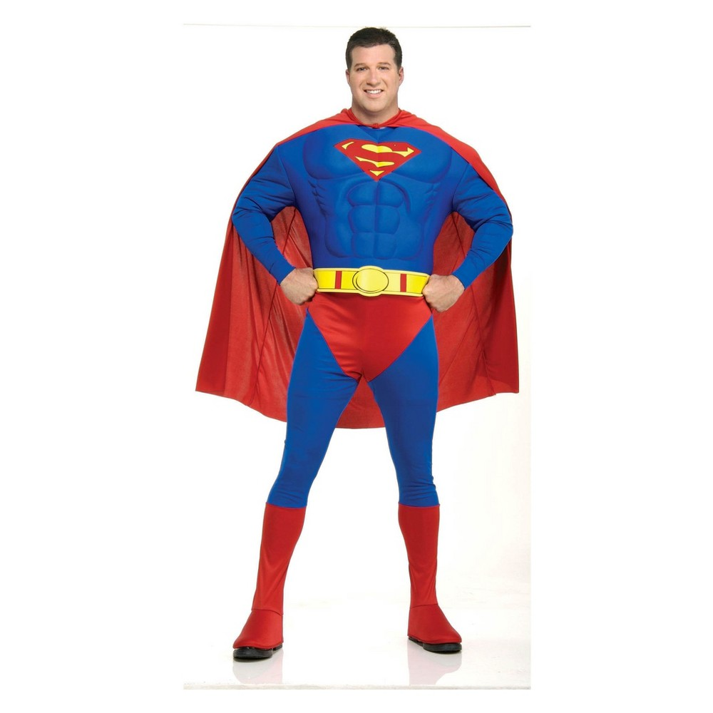 Men's DC Comics Superman Deluxe Muscle Chest Halloween Costume