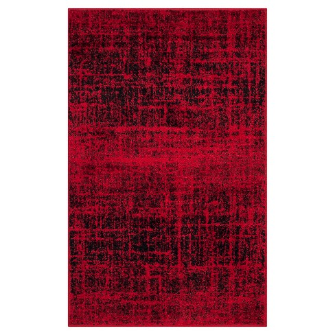 62d1e617fc7 Red Black Abstract Loomed Accent Rug - (2 6
