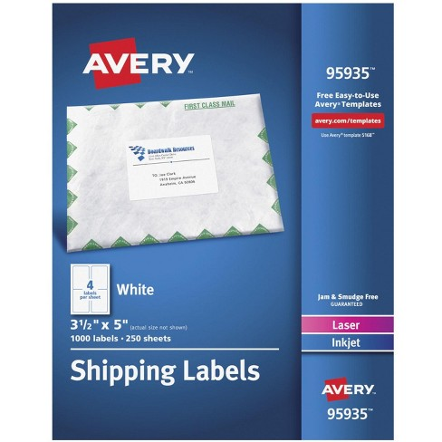 Avery Clean Edge Business Cards Two Side Printable Glossy Matte Back 2 X 3 1 2 200 Cards 8859