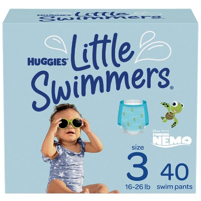 Huggies Little Swimmers Baby Swim Disposable Diapers - Size 3 - 40ct