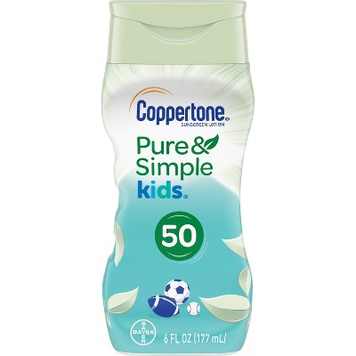 Coppertone Kids Pure and Simple Botanicals Sunscreen Lotion- SPF 50 - 6oz