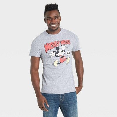 Men's Disney Mickey Mouse Vintage Short Sleeve Graphic Crewneck T-Shirt - Heather Gray