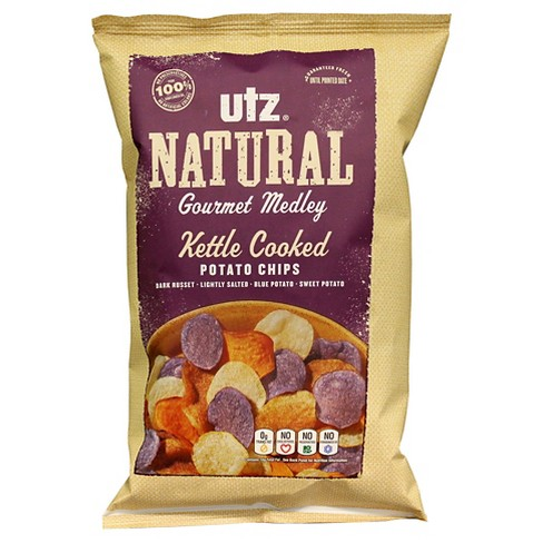 Utz® Natural Gourmet Medley Kettle Cooked Potato Chips 2.65 oz - image 1 of 1