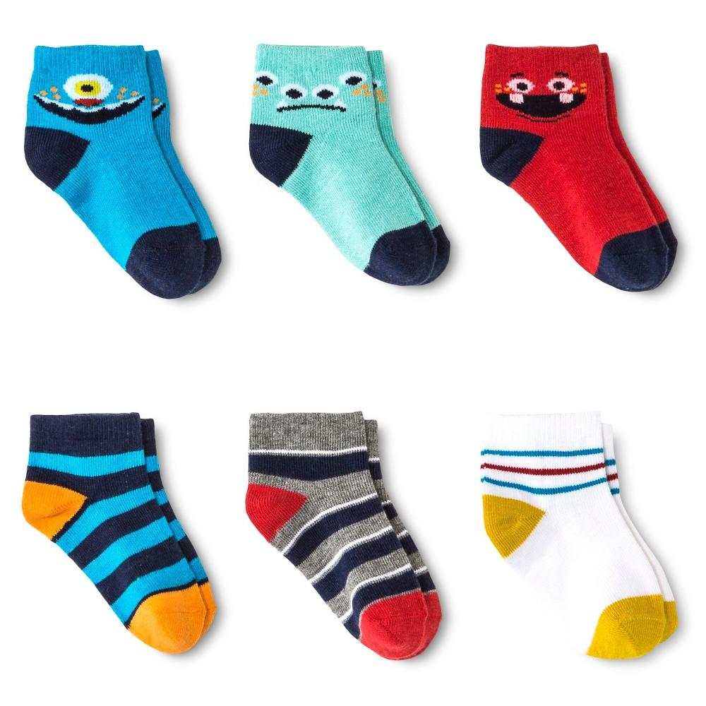 Toddler Boys' Casual Sock 6 pk Circo - Multicolored 2T-3T, Multi-Colored