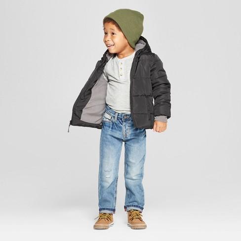 9e6083a4d44c Toddler Boys  Puffer Jacket - Cat   Jack™ Black   Target
