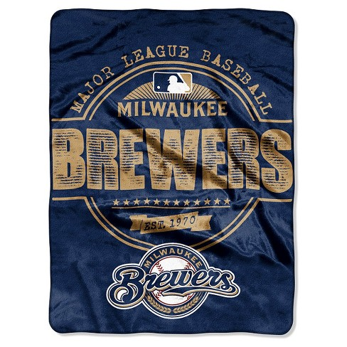 "MLB Milwaukee Brewers Throw Blanket - 46""x60"" - image 1 of 1"