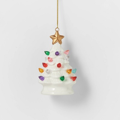 Lit Ceramic Retro Christmas Tree Christmas Tree Ornament Wondershop Target