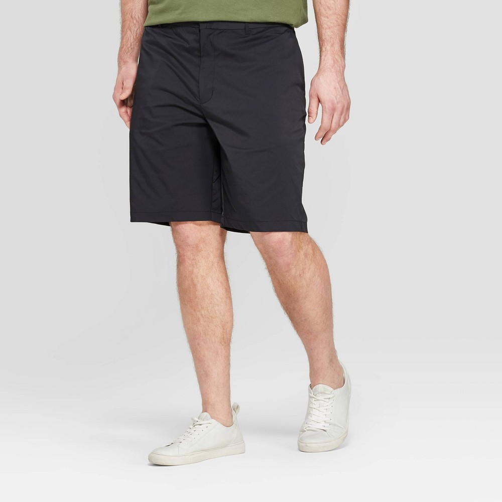 Men's Big & Tall 10.5 Chino Shorts - Goodfellow & Co Black 58
