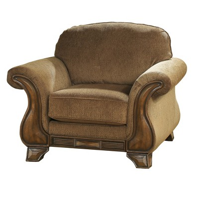 Accent Chairs Mocha Brown Vanilla   Signature Design By Ashley