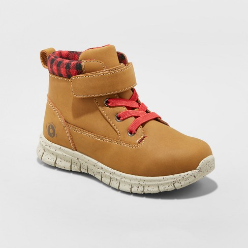 Toddler Boys' Anders Fashion Lug Wheat Boots - Genuine Kids® from Oshkosh Brown - image 1 of 3
