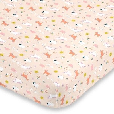 Carter's Sunny Farms Super Soft Mini Crib Fitted Sheet