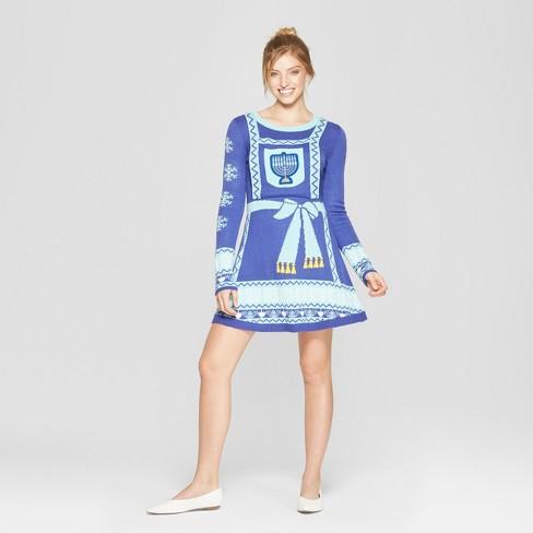 Womens Ugly Hanukkah Dress Born Famous Juniors Blue Target