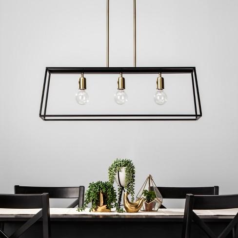 3 Light Pendant Modern Farmhouse Ceiling Light Black - Threshold ...