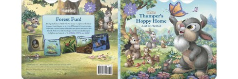 Thumper's Hoppy Home : A Lift-the-Flap Book -  by Calliope Glass (Hardcover) - image 1 of 1