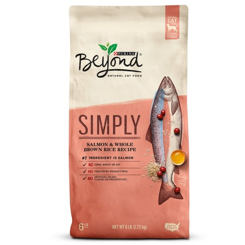 Purina Beyond Cat Food >> Purina® Beyond Natural Salmon & Whole Brown Rice Dry Cat Food - 6lbs : Target
