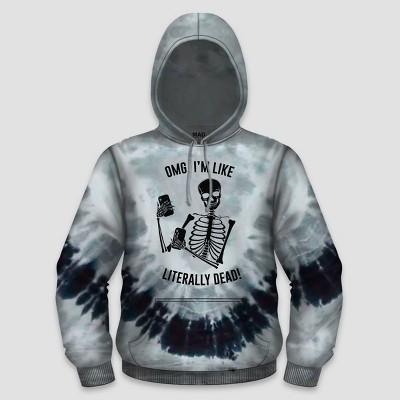 Men's Literally Dead Hooded Sweatshirt - Black/Gray