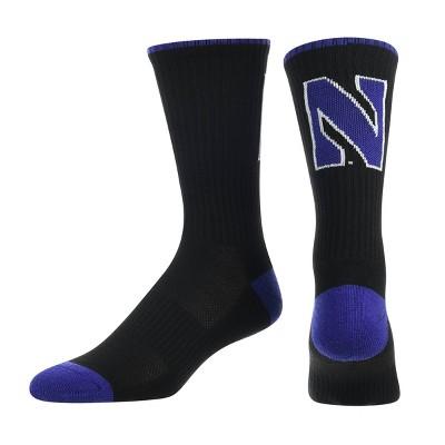NCAA Northwestern Wildcats Big Game Crew Sock L/XL