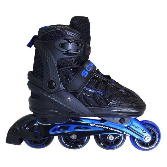 Schwinn Unisex Adult Adjustable Inline Skate - Black/Blue 8-9, Adult Unisex, Size: 10, Black Blue image number null