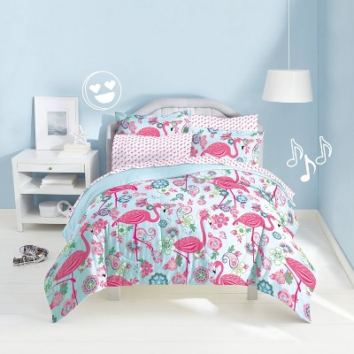 Twin Flamingo Mini Bed in a Bag - Dream Factory