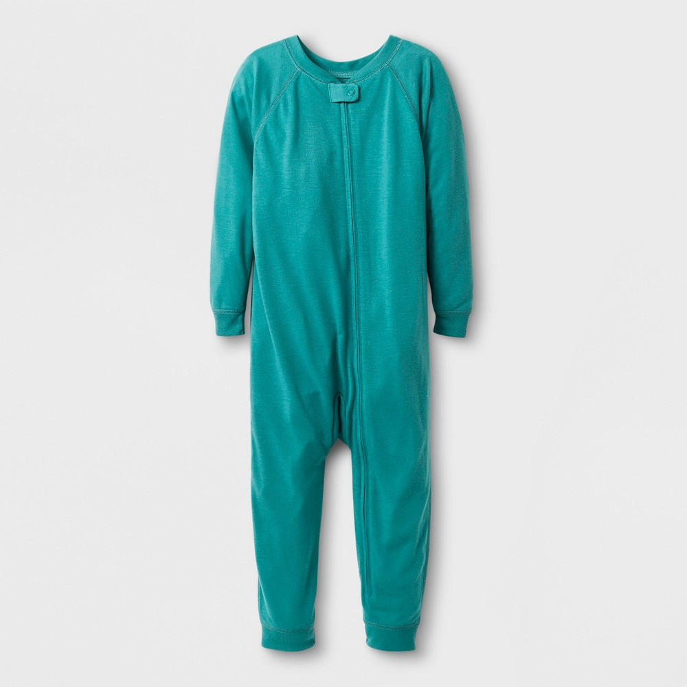 Toddler Adaptive Long Sleeve Reversible Union Suit - Cat & Jack Aqua 4T, Toddler Unisex, Green