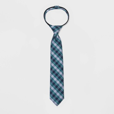 Boys' Checked Tie - Cat & Jack™ Green M/L